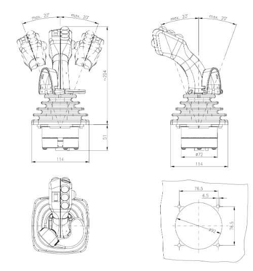 Bảng VẽTay Trang Điều Khiển HNS2| Cần Điều Khiển Joystick HS2