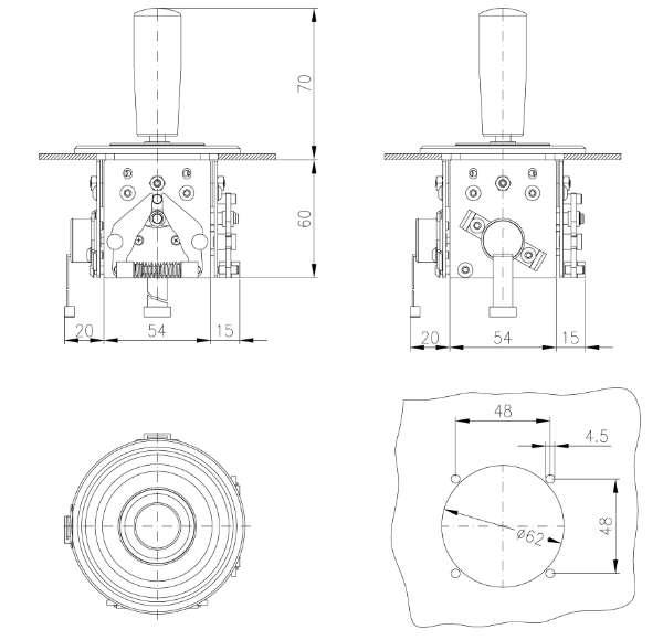 Bảng VẽTay Trang Điều Khiển JMS3 | Cần Điều Khiển Joystick JMS