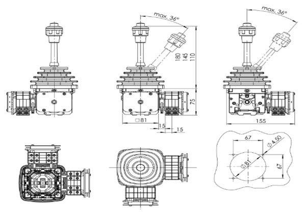 Bản Vẽ Kích Thước Sản Phẩm s+b Joystick VCS0 96 11 AK E-U R G41 SS10259