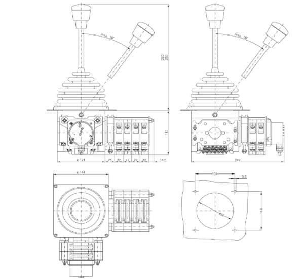 Bảng VẽTay Trang Điều Khiển VNS2| Cần Điều Khiển Joystick VNS2