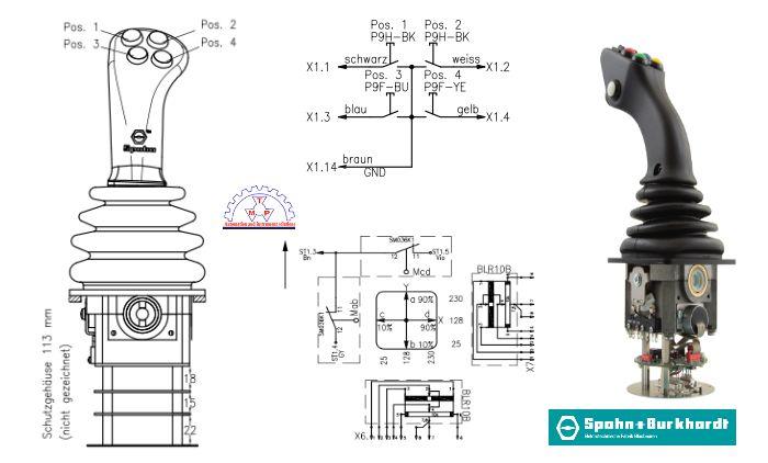 Bản Vẽ Tay Điều KhiểnNS3-PB203C-L/ NS3G-PB203C-LSpohn Burkhardt