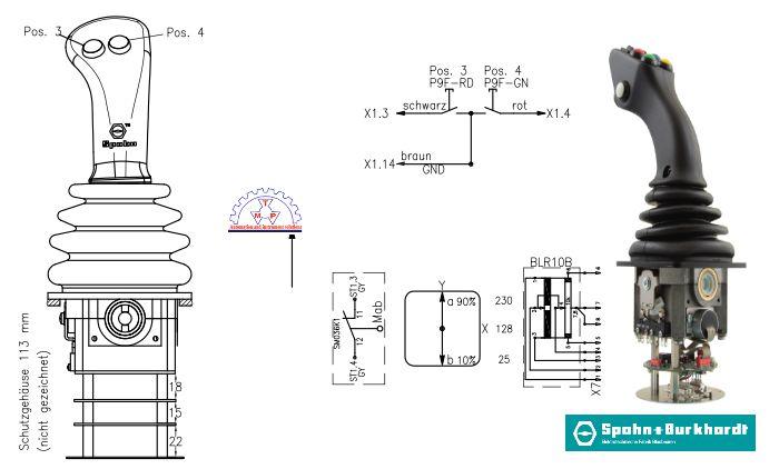 Bản Vẽ Tay Điều KhiểnNS3-PB203C-R / NS3G-PB203C-RSpohn Burkhardt