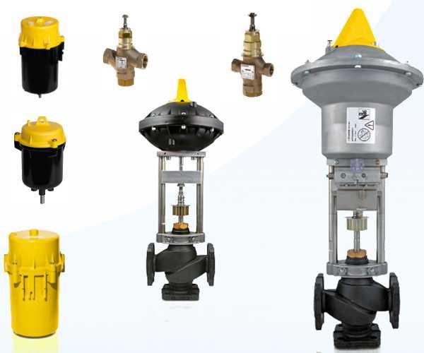 Pneumatic actuators and valves sauter