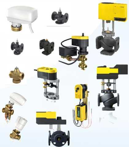 Valves, control valves, dampers, actuators Sauter