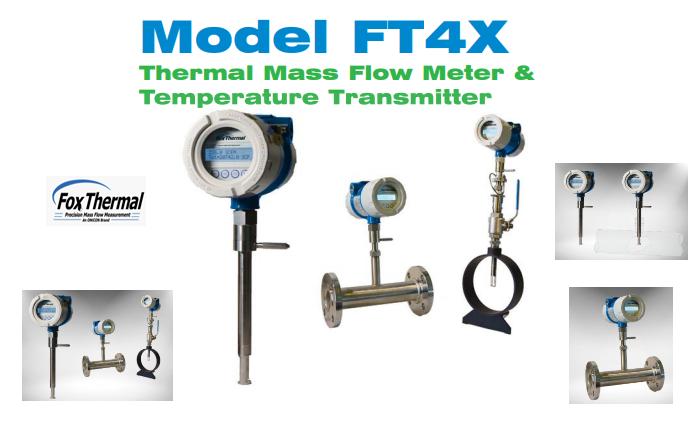 Đồng Hồ Đo Lưu Lượng Khí Dạng Thermal Mass FT4XFox Thermal| Fox Thermal Model FT4XThermal Gas Mass Flow Meter