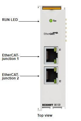 EK1122-2-port EtherCAT junction, EK1122-0008, EK1122-0080