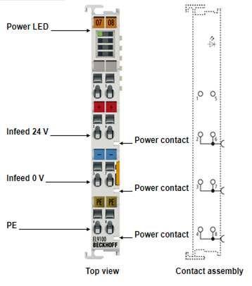 EL9100 Potential supply terminal, EL9110, EL9150, EL9180 beckhoff