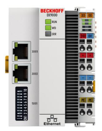 Module I/O beckhoff, EK9000 Modbus TCP/UDP Bus Coupler for EtherCAT Terminals, Beckhoff vietnam