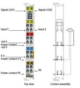 EL1002 channel digital input terminal EL1004, EL1008, EL1012 Beckhoff