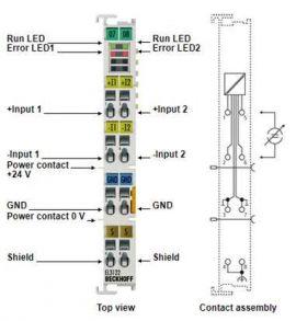 EL3122 channel analog input terminal, EL3124, EL3124-0090 Bekhoff