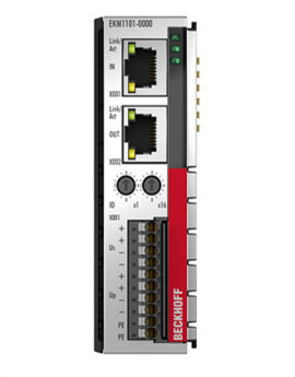 Module I/O beckhoff, EKM1101 EtherCAT Coupler with ID switch and diagnostics, beckhoff vietnam